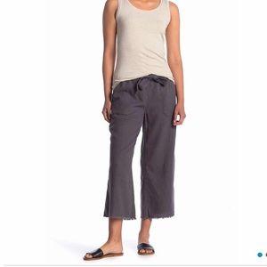 Dark grey linen culottes - NWT
